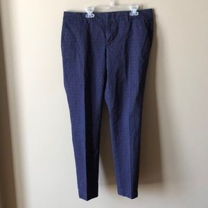 Tommy Hilfiger Blue and Red Triangle Pattern Pants